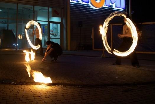 Draconica - tancerze ognia, Dębica - pokaz urodziny Raju